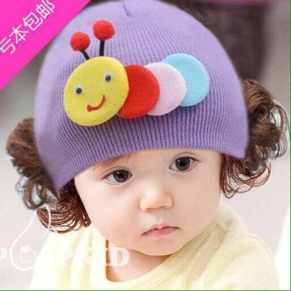 Giá bán Mũ len có kèm tóc giả thiết kế hình ong dễ thương phụ kiện xinh xắn giúp giữ ấm cho bé