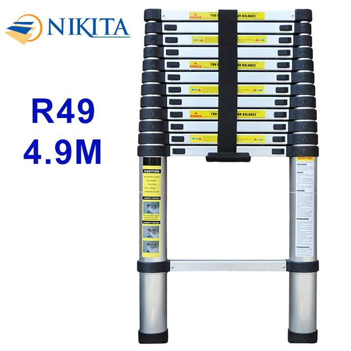 Thang nhôm rút đơn Nikita R49 - 4.9m