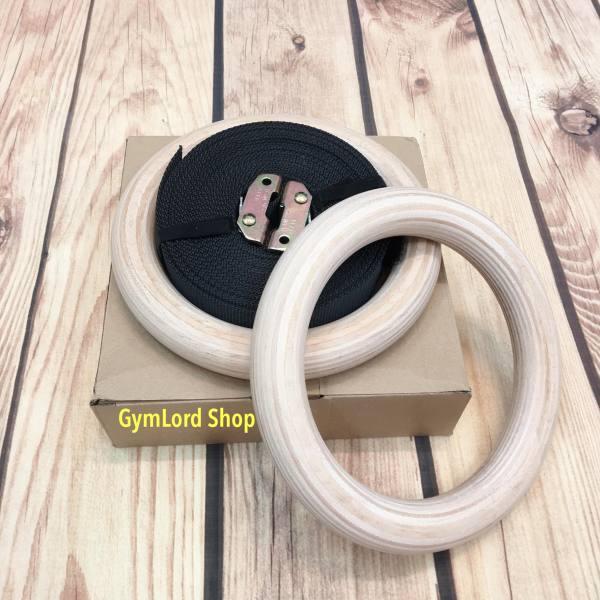 ⭐Vòng treo xà Gymnastic Rings gỗ Bạch Dương bản chuẩn Quốc Tế 32mm ⭐ FREESHIP