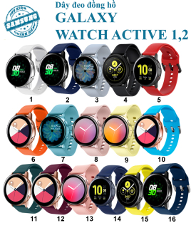 [Galaxy Watch Active 2] Dây đeo Silicon Samsung Galaxy Watch Active 1&2 ( 20mm) thumbnail