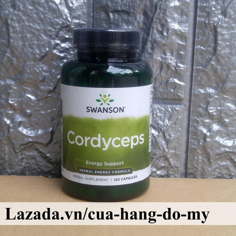 Viên uống Đông Trùng Hạ Thảo Swanson Cordyceps 600mg Hộp 120 Viên cao cấp