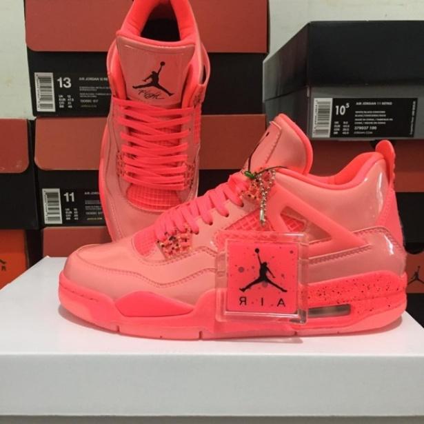 Giày Sneaker Jordan 4 Hot Punch Full red ( Full box) giá rẻ