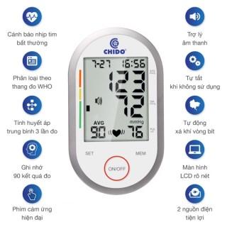 [Hàng Chính Hãng CHIDO] Máy đo huyết áp, Máy đo huyết áp cảm ứng CHIDO,ứng dụng công nghệ cảm ứng hiệng đại nhất từ nhật bản ,tự động đo huyết áp và nhịp tim, cảnh báo nhịp tim bất thường sản phẩm bảo hành 12T thumbnail