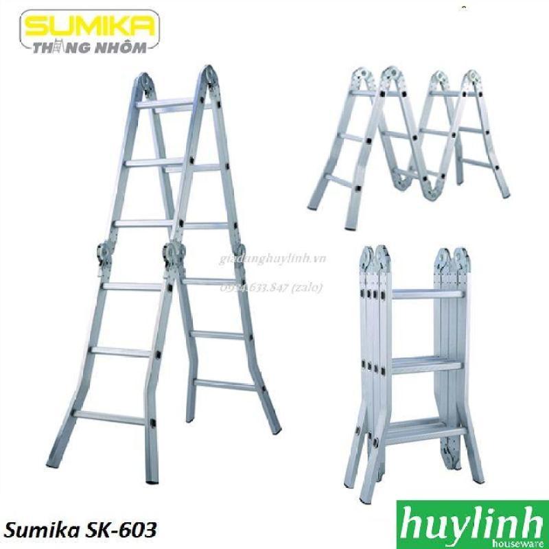 Thang nhôm gấp đa năng 4 đoạn Sumika SK-603 - 3.4 mét