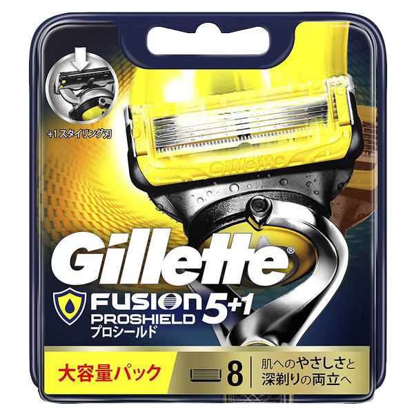 Vỉ 8 lưỡi dao cạo râu Gillette Fusion 5+1 Proshield Nhật Bản giá rẻ