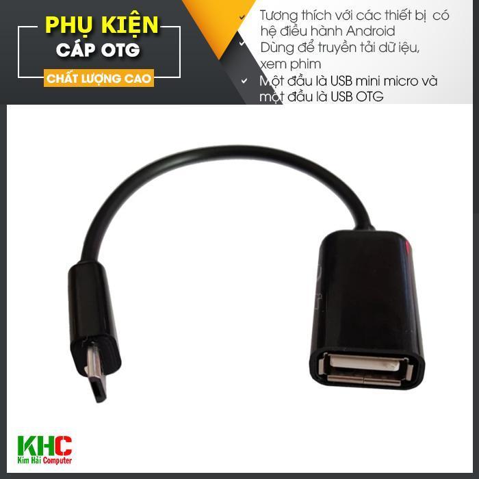 Dây cáp OTG đầu dẹt (Nhiều màu giao màu ngẫu nhiên) - Kim Hải Computer - KHC