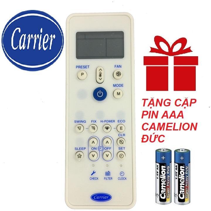 Remote điều khiển máy lạnh CARRIER mẫu 1