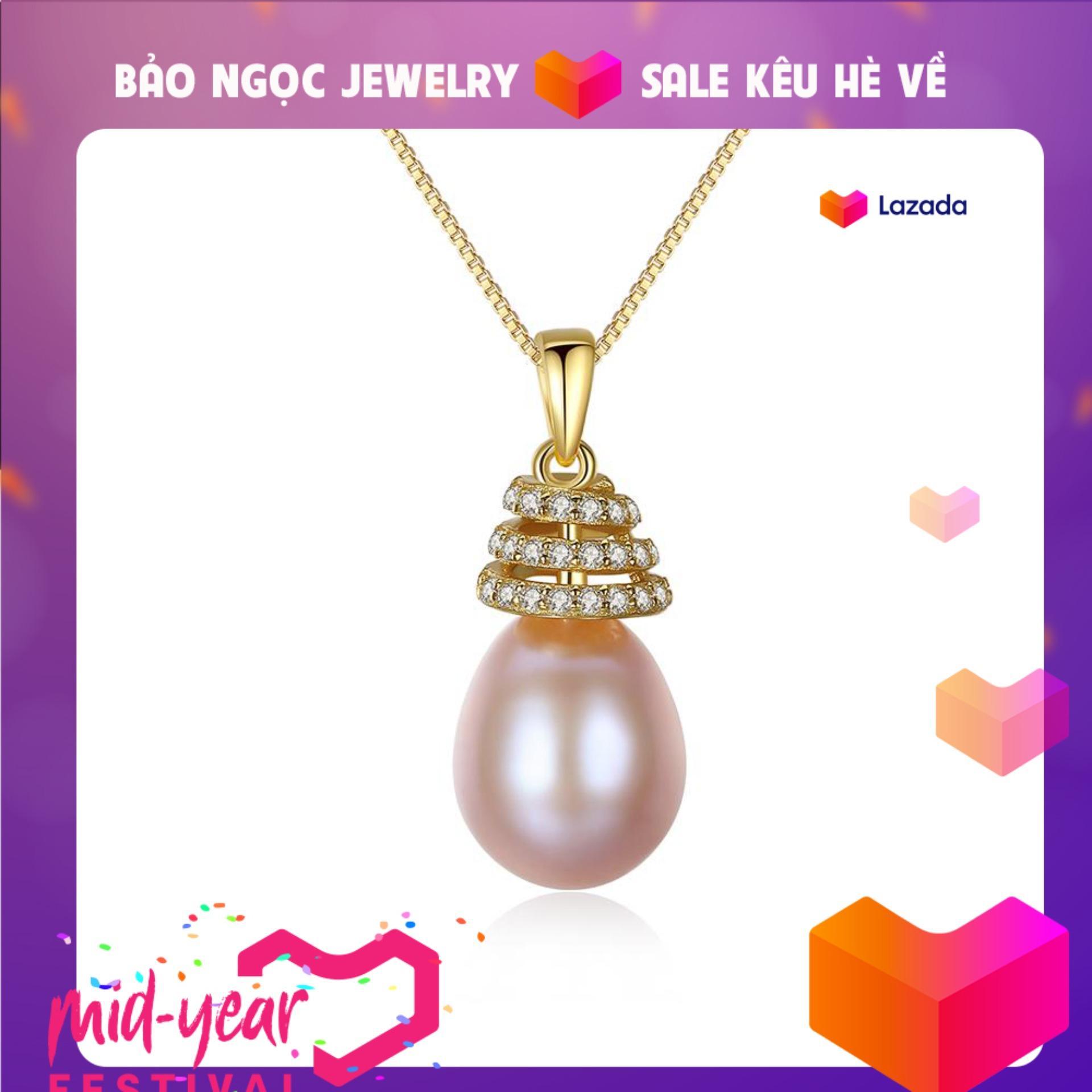 Dây Chuyền Ngọc Trai Cao Cấp DB2335 Cỡ Hạt 10x11 Bảo Ngọc Jewelry