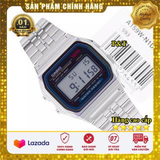 Đồng hồ Nam Casio A159 Silver điện tử dây thép không gỉ - Kính chống xước - Bảo hành 12 tháng - Sang trọng - Đồng hồ P&T [ FreeShip- Hàng cao cấp- Full box ] thumbnail