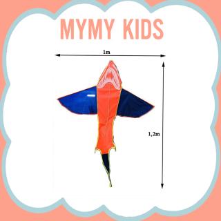 Diều thả ngoài trời cá mập, diều phượng hoàng lửa - Tặng kèm tay cầm và dây thả chịu lực. diều sáo, diều 3d chất vải dù cao cấp - Diều cá mập lớn, diều cá mập rẻ tiền, diều cá mập đen, diều cá mập khổng lồ - Mymy Kids thumbnail