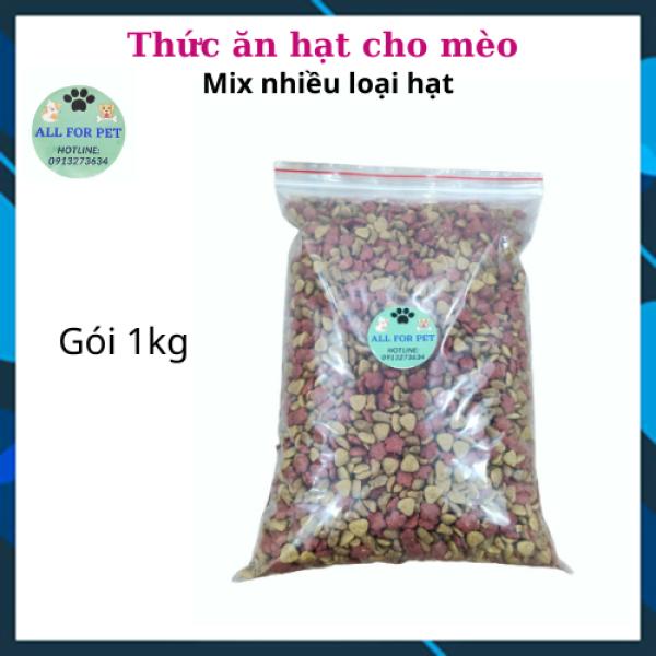Thức ăn hạt cho mèo mix nhiều loại hạt túi 1kg