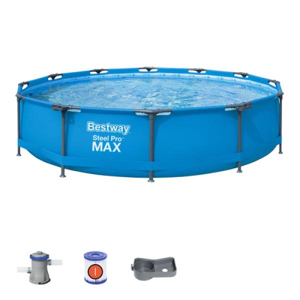 Bể bơi  tròn Bestway gia đình đường kính 3.66 tặng bơm lọc và phao bơi cho bé