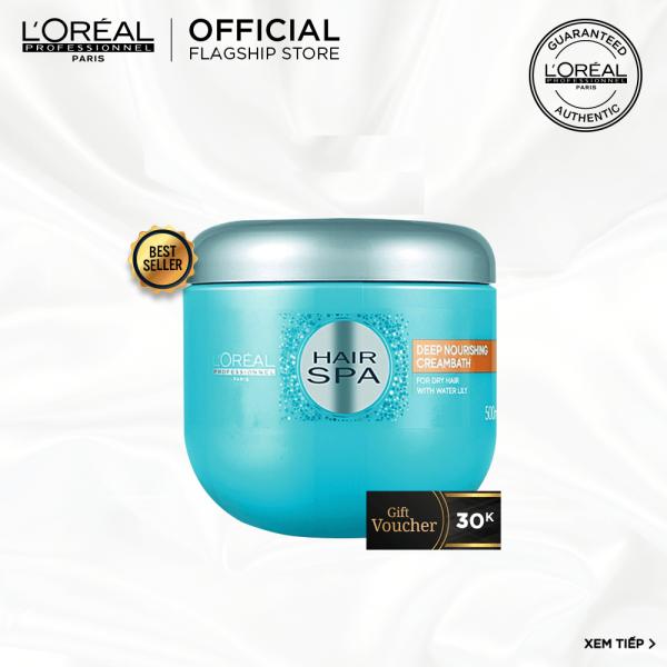 [Tặng Voucher 30k] Dầu hấp cấp ẩm cho tóc khô LOréal Professionnel Hair Spa 500ml nhập khẩu
