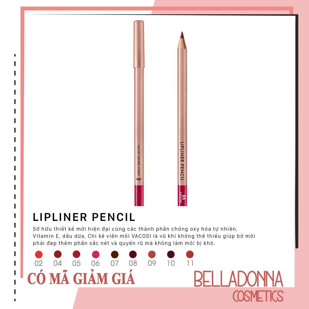 [Có Mã Giảm Giá] Chì Kẻ Viền Môi Vacosi Lipliner Pencil No.5 - Purple Red tốt nhất