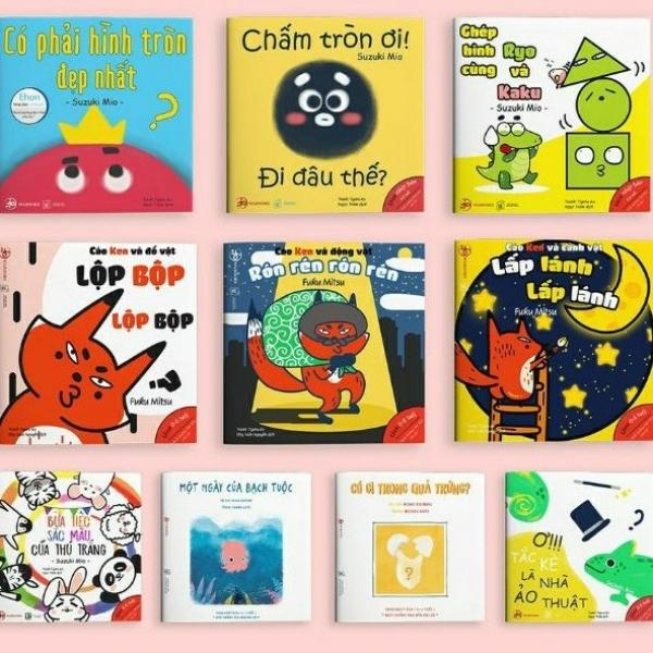 Mua Sách Ehon - Combo 10 cuốn Màu sắc, Âm thanh, Hình khối  ( Ehon Nhật Bản cho bé 0-6 tuổi ).