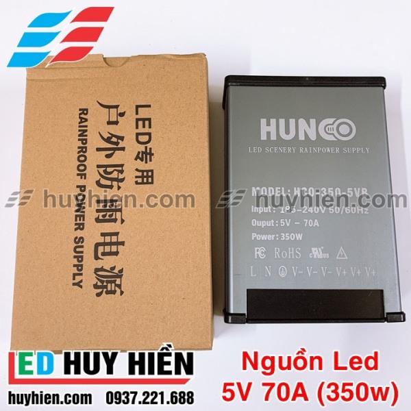 Nguồn led 5V70A ngoài trời vỏ nhôm, Nguồn 5V 350W ( 5V 70A ) ngoài trời vỏ nhôm HUNCO