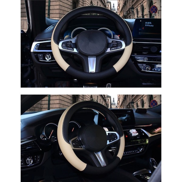 Bọc Vô Lăng Ô Tô Chuẩn Da Size 37- 38 Cm | Bao Tay Lái Ô Tô Chuẩn Da Cho Xe 5-7 Chỗ | Bọc Vô Lăng Toyota Cao Cấp