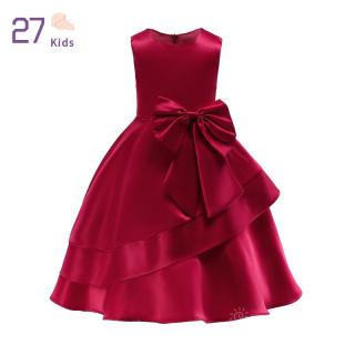Váy Công Chúa Cho Bé Gái 27 Tuổi, Đầm Cổ Tròn Thắt Nơ Cho Trẻ Mới Biết Đi Đầm Dự Tiệc Không Tay Thời Trang