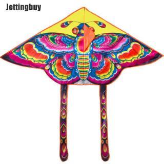 Jettingbuy Diều hình bướm màu cầu vồng 90 55cm dễ gập lại với dây điều khiển 50m, cho trẻ em chơi ngoài trời - INTL thumbnail