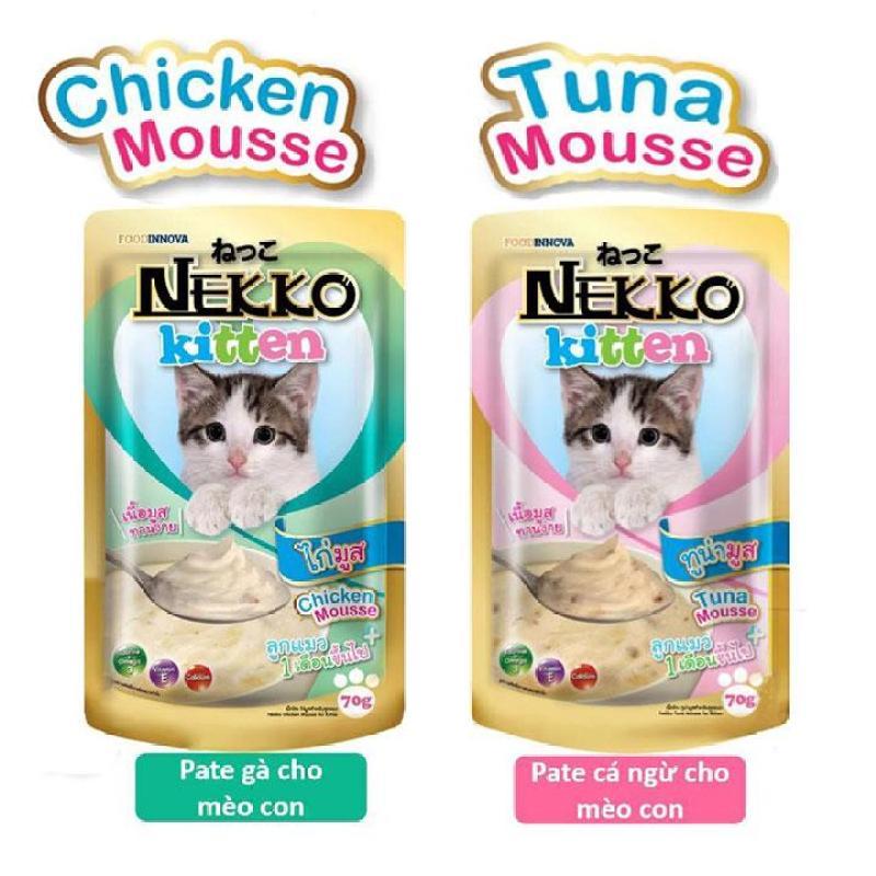 Pate mèo con Nekko Kitten hộp 12 gói 70g dành cho mèo từ 1-12 tháng tuổi - CutePets