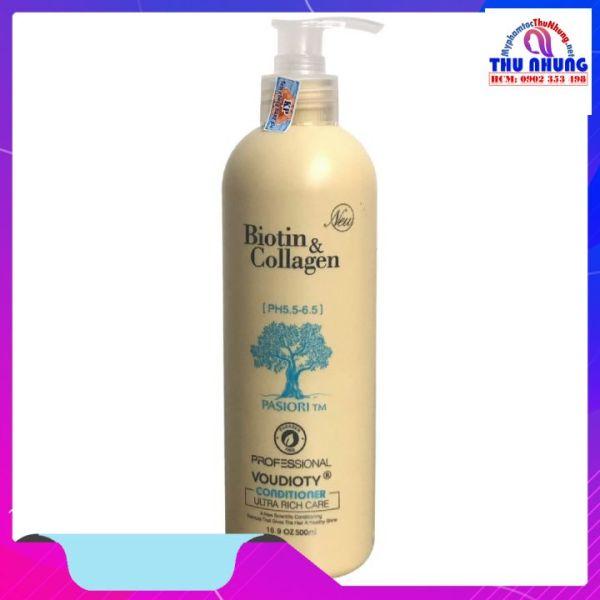 Dầu xả phục hồi và kích thích mọc tóc Biotin & Collagen 500ml