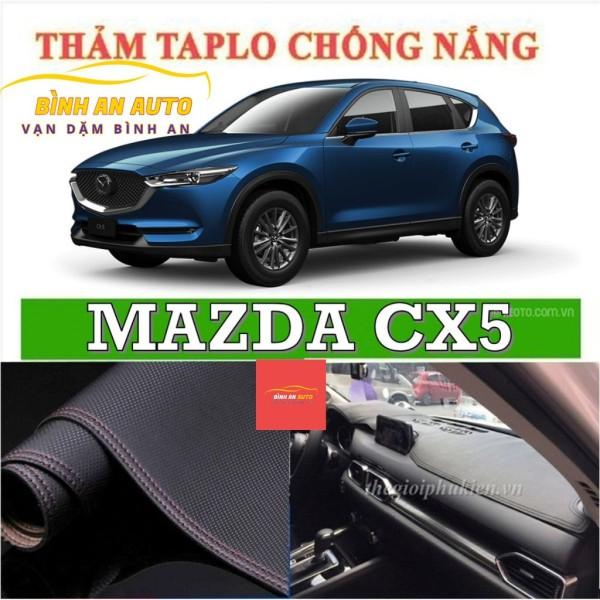 Thảm taplo MAZDA CX5 2019-2020 da vân cacbon, thảm phủ taplo, taplo cacbon, taplo da - Bình An Auto