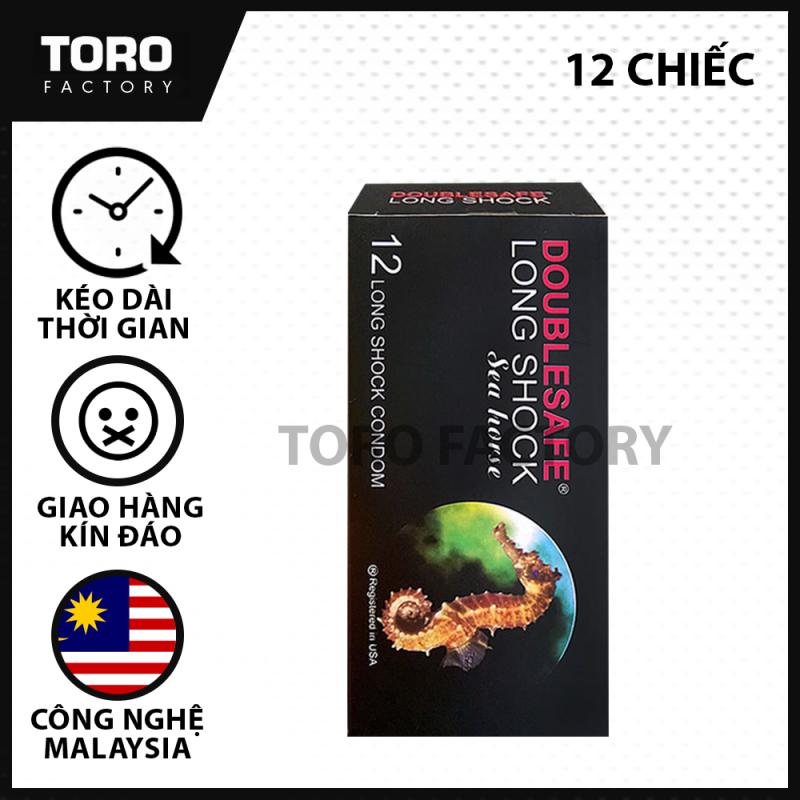 (Hộp 12 chiếc) Bao Cao Su Malaysia Cá Ngựa - Kéo Dài Thời Gian Quan Hệ Từ 2 - 3 lần, trị xuất tinh sớm - [TORO FACTORY]