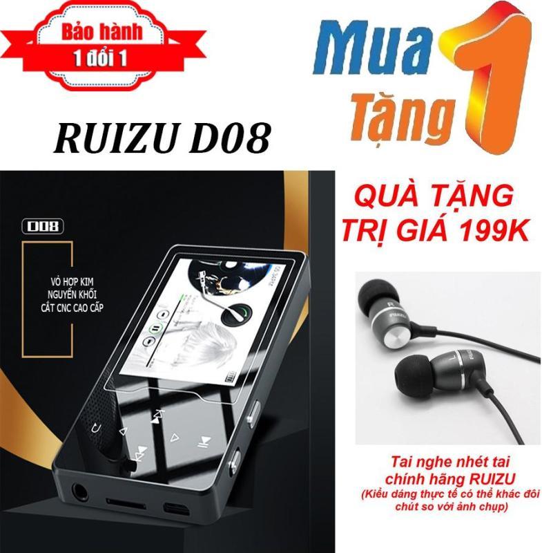 Máy nghe nhạc MP4 màn hình HD 2.4 inches Ruizu D08  + Tặng Tai nghe nhét tai RUIZU Chất lượng cao - Máy nghe nhạc Lossless chất lượng cao - máy nghe nhạc giá rẻ