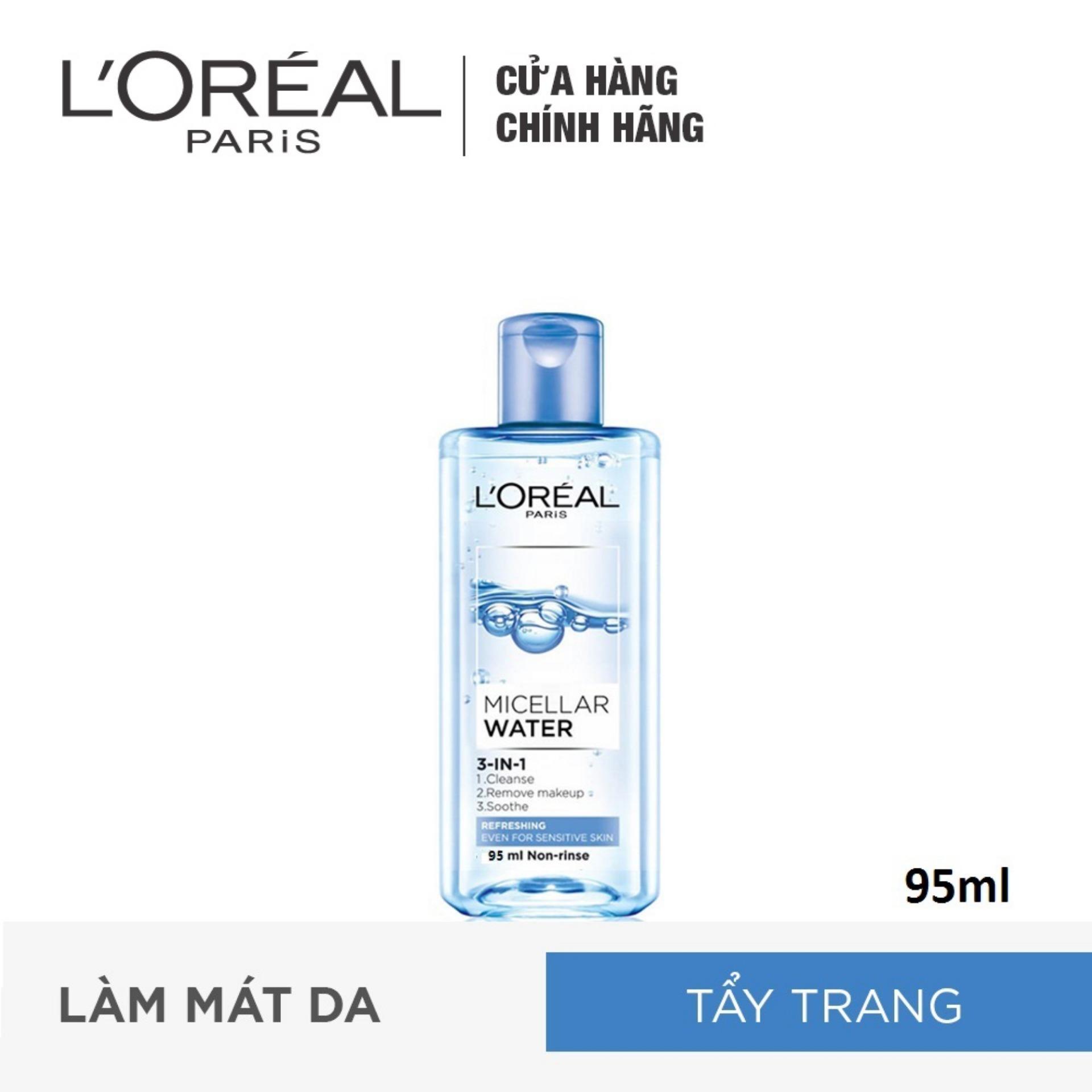 Nước tẩy trang cho da nhạy cảm L'Oreal Micellar Water 95ml