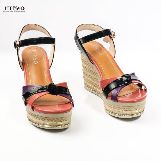 💖 FREESHIP 💖 Dép sandal nữ đế xuồng da bóng cực sang, kiểu dáng sang chảnh kết hợp đế xuồng cực bắt mắt mẫu mới 2021 ( sdn76 ) giá rẻ