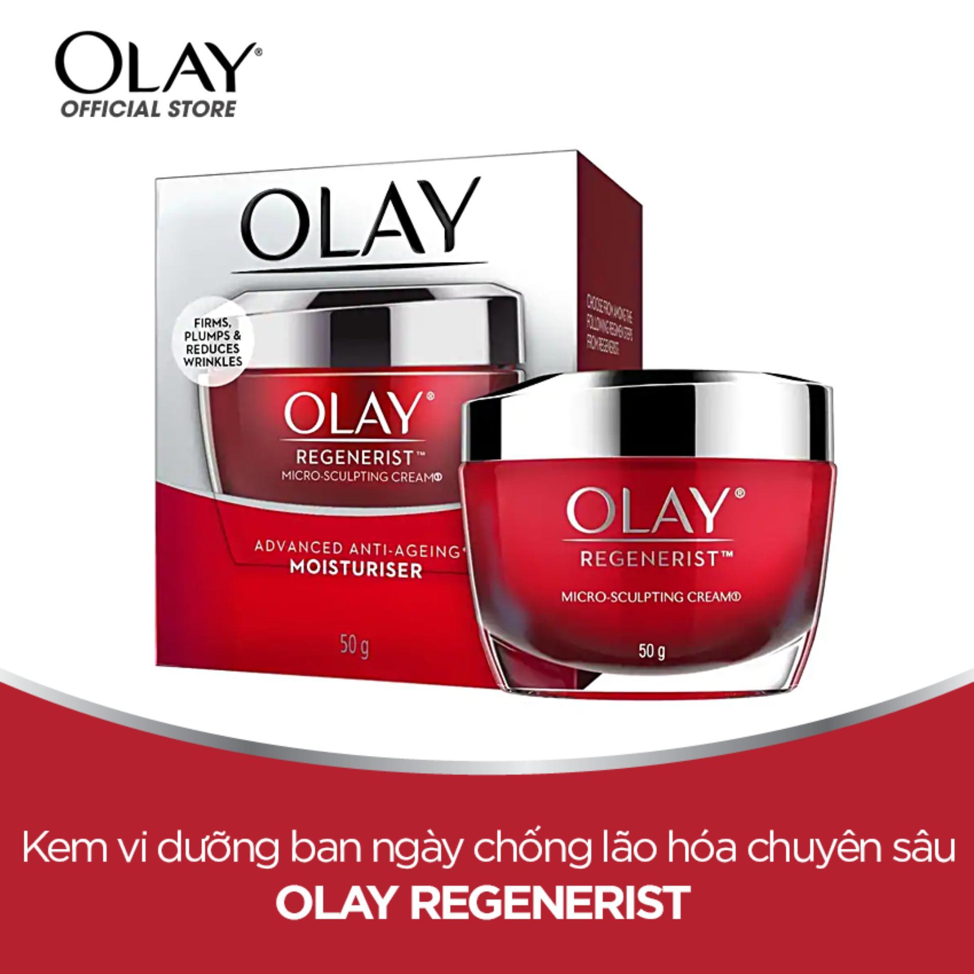 Kem dưỡng ẩm ban ngày chống lão hóa Olay Regenerist Micro Sculpting Cream 50g nhập khẩu