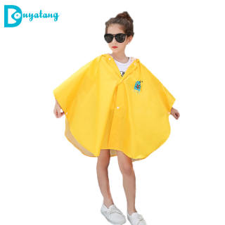 Fashion Áo Mưa Polyester Trẻ Em, Đáng Yêu Dính Liền Áo Sinh Viên Áo Mưa Áo Mưa