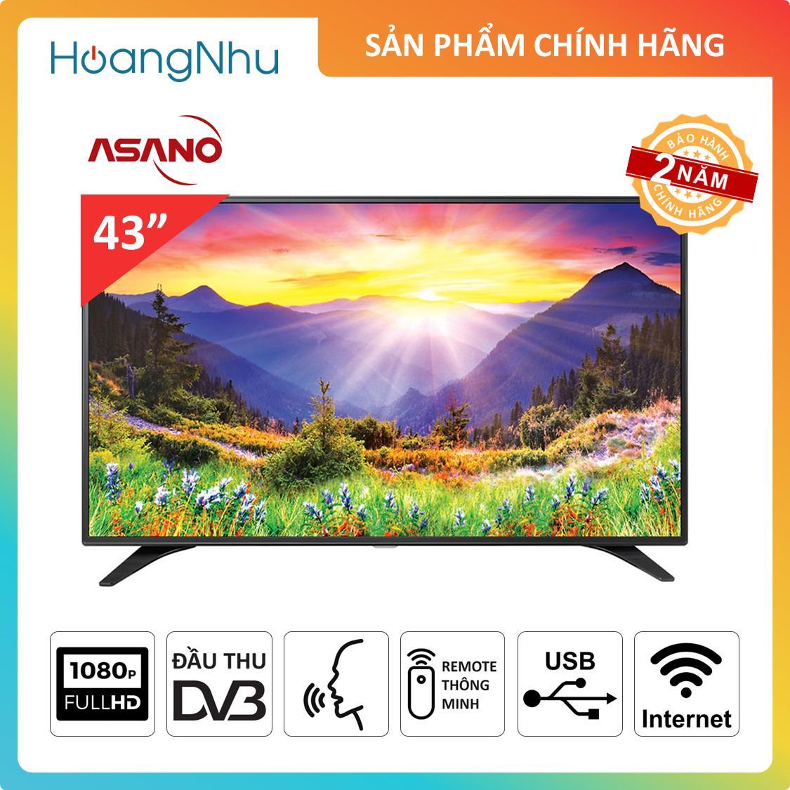 Bảng giá Smart Voice TV Asano 43 inch 43EK7 (Tivi thông minh, Full HD, Wifi, Điều khiển giọng nói, Tích hợp truyền hình KTS) - Bảo hành 2 năm