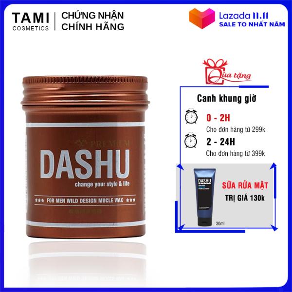 Sáp vuốt tóc nam DASHU For Men Wild Design Mucle Wax 100ml Giữ nếp tốt Không gây bết dính Độ bóng tự nhiên TM-SAP04 giá rẻ