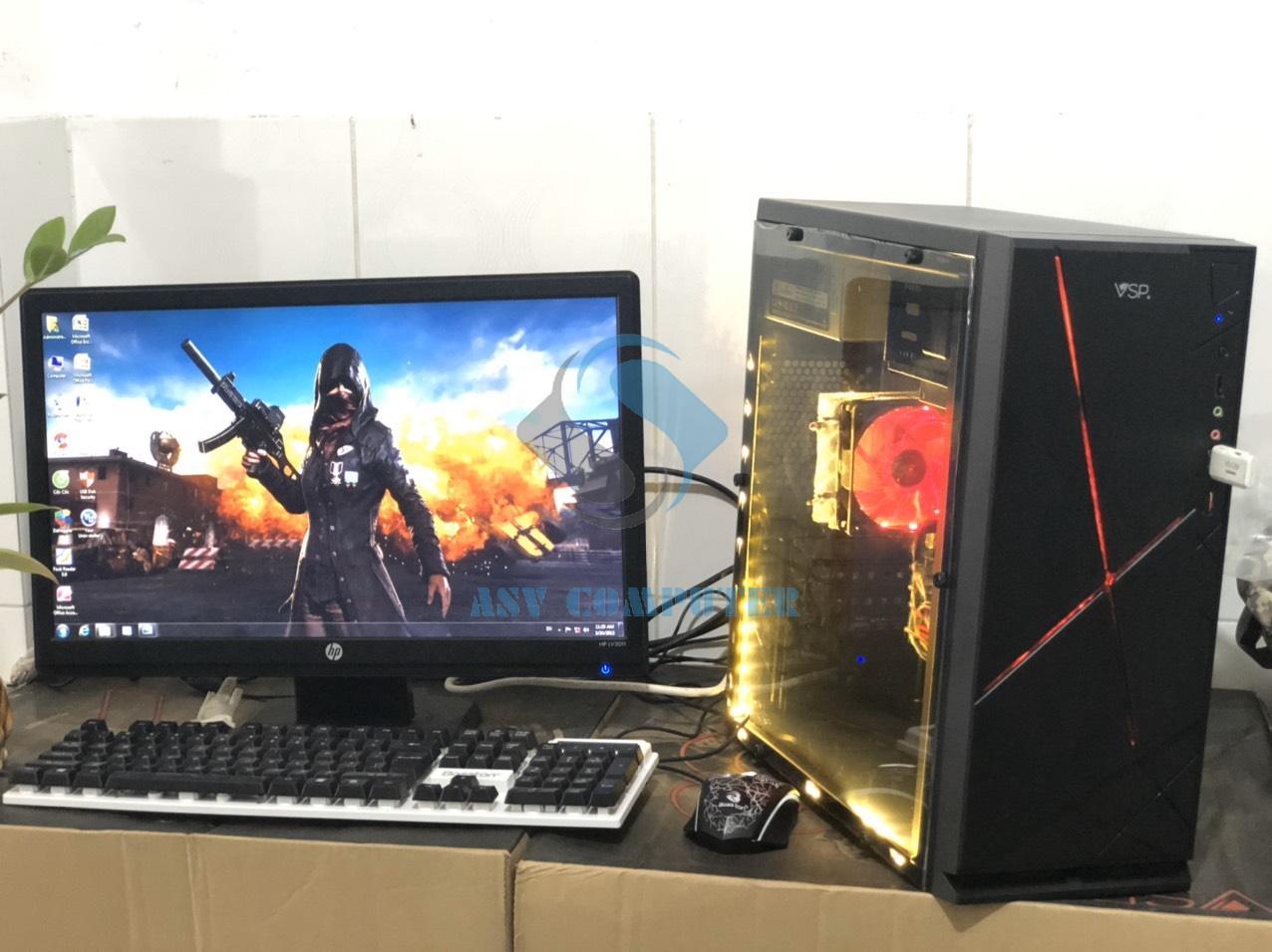 PC Chơi Game A6 6400 3.6Ghz/ Ram 8G/ Vga 4G/ Hdd 250G/ Case Nguồn/ Phím Chuột LED, Màn Hình 19inch (như Hình) Cùng Khuyến Mại Sốc