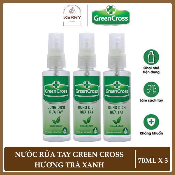 Combo 3 Chai Xịt Rửa Tay Khô Green Cross Hương Trà Xanh (70ml/chai) cao cấp