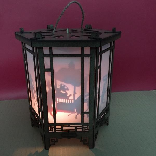Bảng giá [HCM]Lồng đèn kéo quân gỗ 24cm