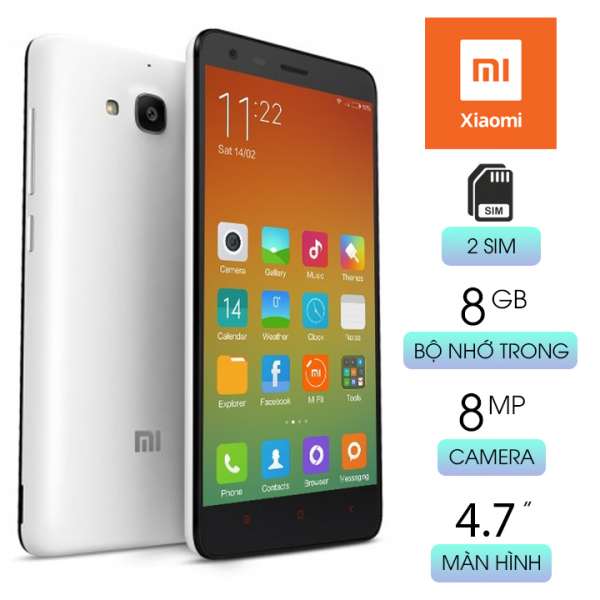 Điện thoại cảm ứng giá rẻ dưới 1 triệu Xiaomi Redmi 2 nhỏ gọn 2 sim có hỗ trợ 4G Wifi