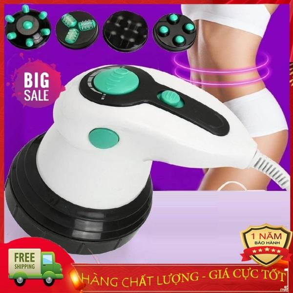 Máy massage cầm tay Body Innovation - 4 đầu massage, 6 cường độ, chế độ rung lắc thư giãn, giảm mỡ hiệu quả -  Matxa quý bà, Đánh tan mỡ bụng - Bảo Hành 12 tháng - BAMBOO