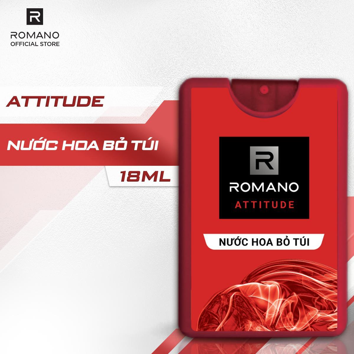 Nước hoa bỏ túi Romano Attitude nồng ấm quyến rũ 18ml