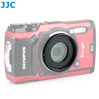 JJC 40.5mm Filter Thread Mount Lens Adapter Ring for Olympus Tough TG 6 TG 5 TG 4 TG 3 TG 2 TG 1 FCON T01 TCON T01 as CLA T01 thumbnail