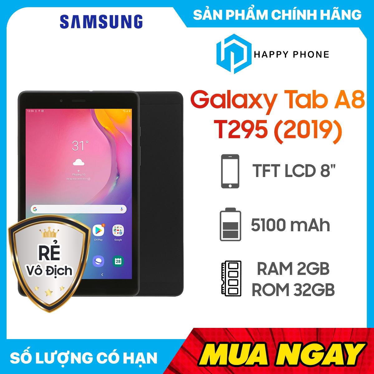 [Trả góp 0%] Máy tính bảng Samsung Galaxy Tab A8 T295 (2019) (2GB/32GB) - Hàng chính hãng, Mới 100%, Nguyên seal   Bảo hành 12 tháng