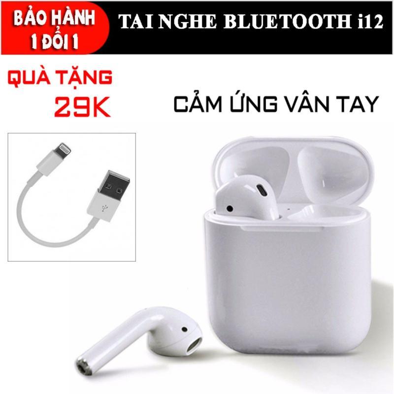 Bảng giá Tai Nghe Bluetooth 5.0 I12 Tws [Cảm Ứng Vân Tay] (Màu Trắng) - Tai Nghe Bluetooth Khong Day I12s - Tonoto Phong Vũ