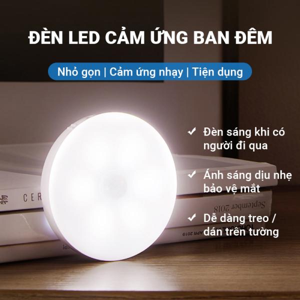 Đèn LED cảm ứng trong đêm có người đi qua tự động sáng, công suất 0.6W hao phí thấp tiết kiệm điện, sau 20s tự động tắt, ánh sáng dịu nhẹ thoải mái, tiện dụng
