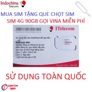 [HCM]SIM ITELECOM VINAPHONE NỘI MẠNG MIỄN PHÍ 90GB 30 PHÚT GỌI NGOẠI MẠNG 0Đ TẶNG QUE CHỌC SIM thumbnail