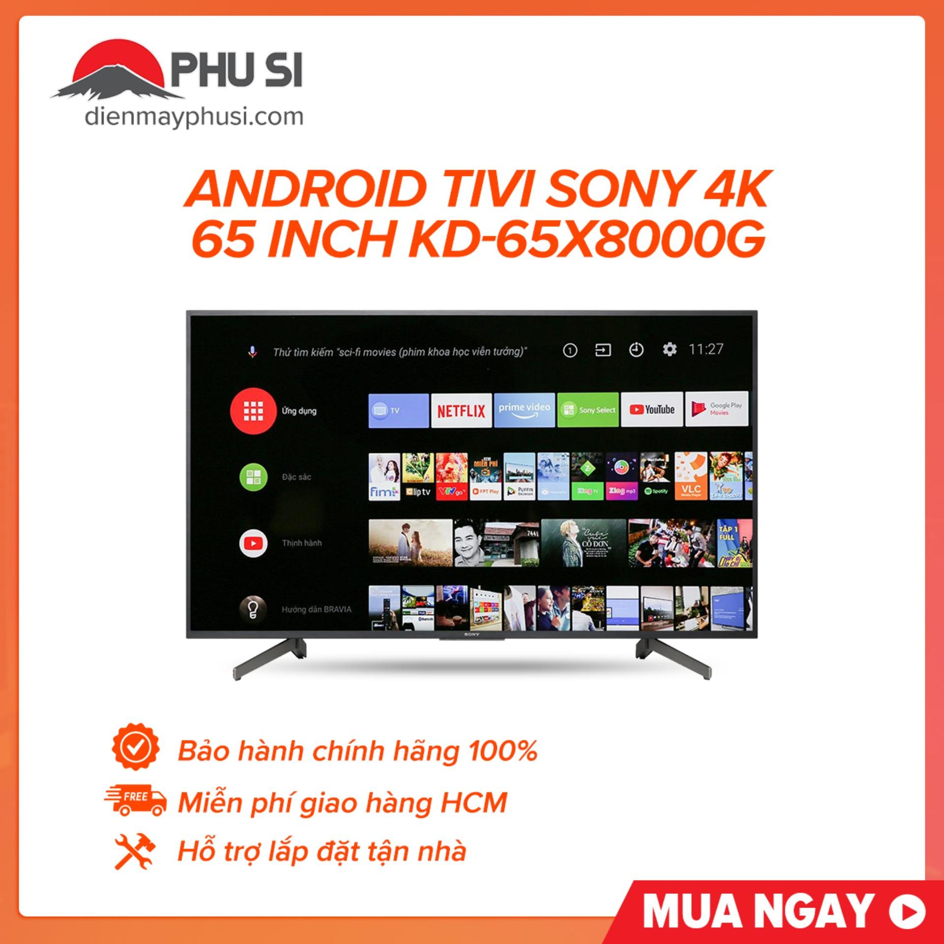 Bảng giá Android Tivi Sony 4K 65 inch KD-65X8000G