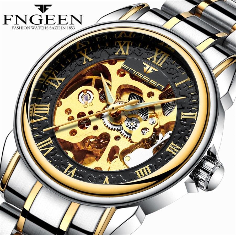Đồng hồ Nam FNGEEN Cơ Automatic Lộ máy nghệ thuật