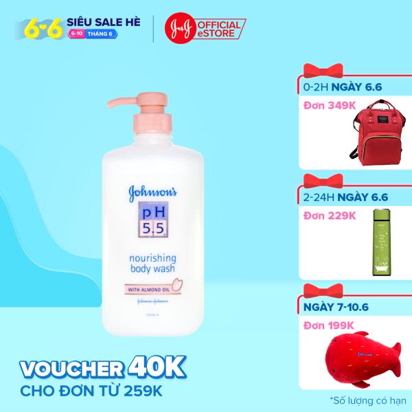 Sữa tắm pH5.5 dầu hạnh nhân Johnsons nourishing body wash with almond oil 750ml - 100953994