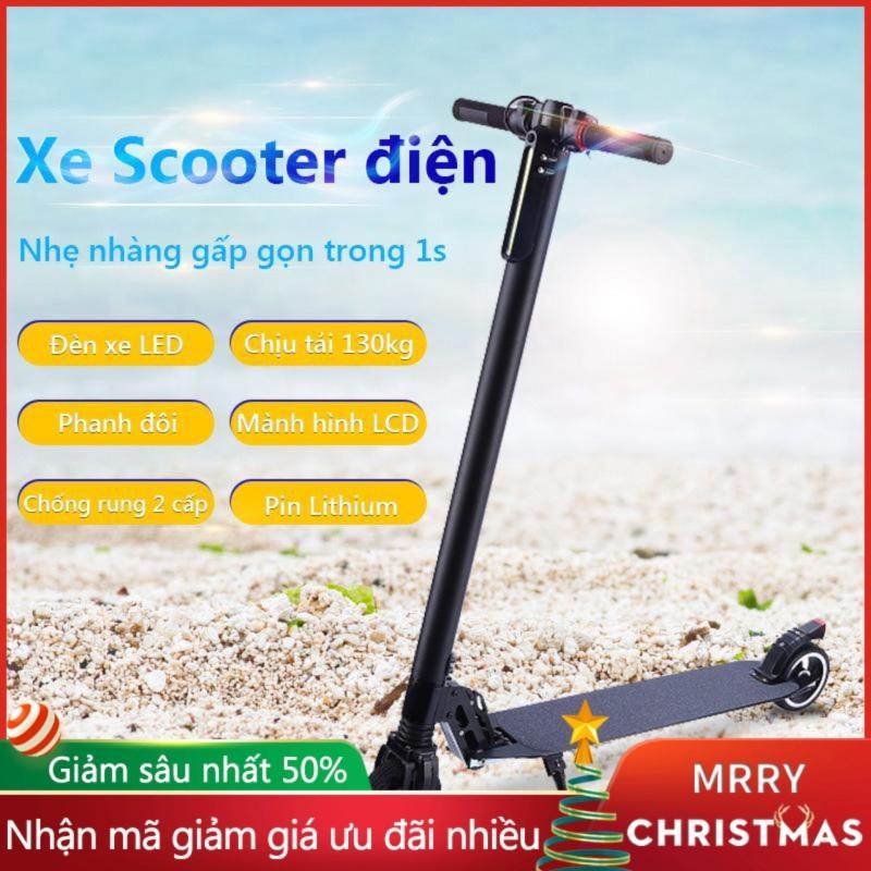 Giá bán Xe Scooter xe trượt điện mini có thể gấp thanh thiếu niên nam nữ đi làm đi học tiện lợi TopOne2020