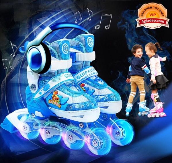 Phân phối Bộ Giày trượt Patin Cao cấp Gupaisy Bản Nam có Ánh sáng - Full Mũ + Bộ bảo vệ + Túi + Quà  - Giày Patanh xịn xuất Châu Âu